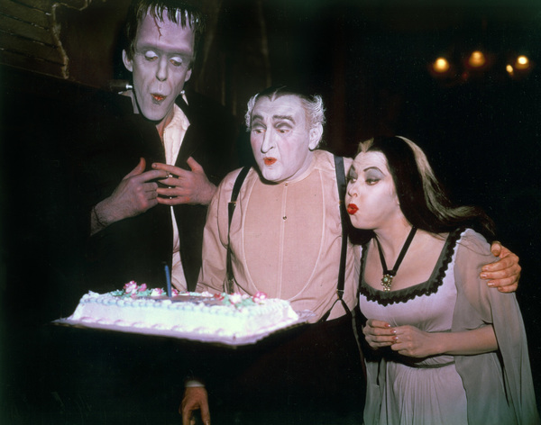 """The Munsters""Fred Gwynne, Al Lewis, Yvonne De Carlocirca 1965** Part of the Kevin Burns Collection - Image 3600_0288"