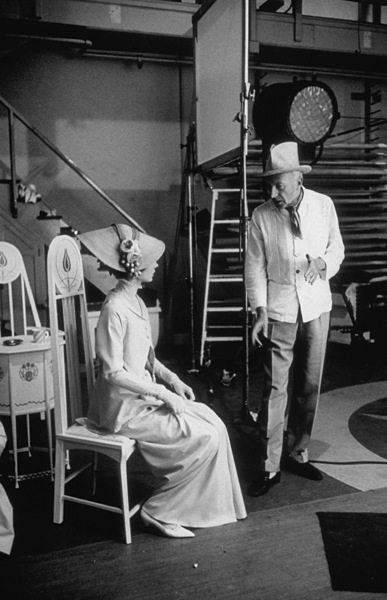 """""""My Fair Lady,"""" 1963.Audrey Hepburn with Cecil Beaton.(c) 1978 Bob Willoughby - Image 3604_0046"""
