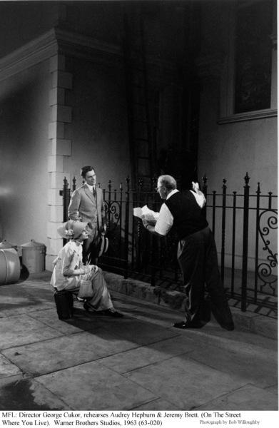 """My Fair Lady""Audrey Hepburn, Jeremy Brett, Dir. George Cukor1963 / Warner Brothers © 1978 Bob Willoughby - Image 3604_0659"