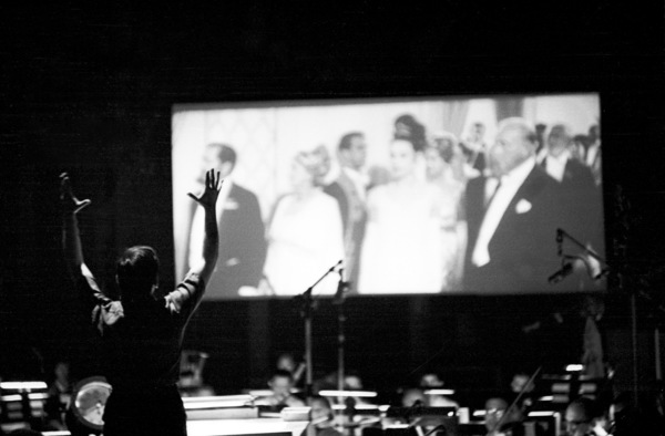 Andre Previn conducting the score for George Cukor