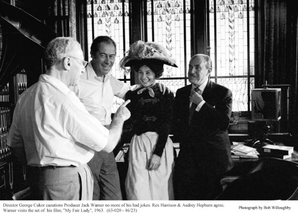 """My Fair Lady""Dir. George Cukor, Rex Harrison, Audrey Hepburn, Jack Warner. 1963 / Warner Brothers. © 1978 Bob Willoughby - Image 3604_0804"