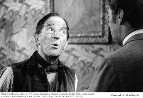"""""""My Fair Lady""""Stanley Holloway, Rex Harrison1963 / Warner Brothers © 1978 Bob Willoughby - Image 3604_0848"""