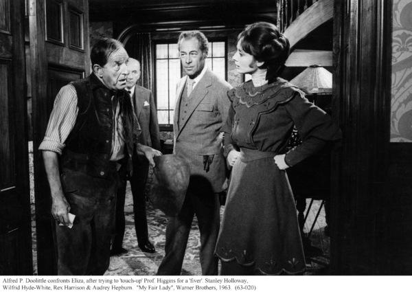 """My Fair Lady""Stanley Holloway, Wilfrid Hyde-White, Rex  Harrison, Audrey Hepburn.   1963 / Warner Brothers. © 1978 Bob Willoughby - Image 3604_0851"