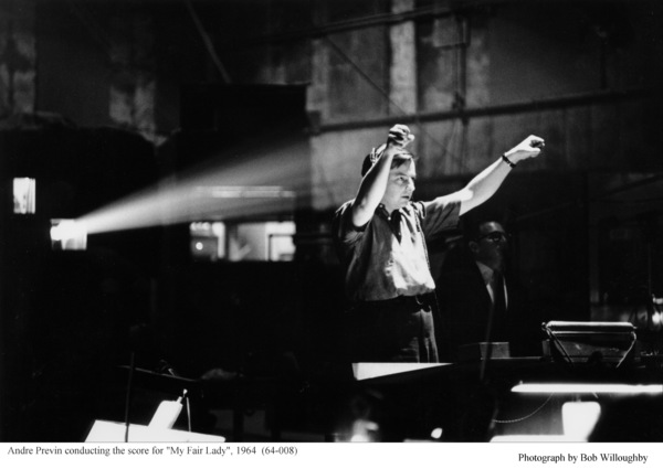 """""""My Fair Lady""""Andre Previn conducting.1964 / Warner Brothers © 1978 Bob Willoughby - Image 3604_0909"""