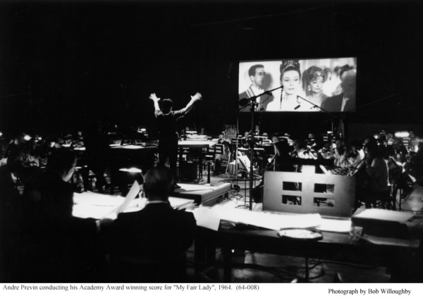 """""""My Fair Lady""""Andre Previn conducting. 1964 / Warner Brothers © 1978 Bob Willoughby - Image 3604_0913"""