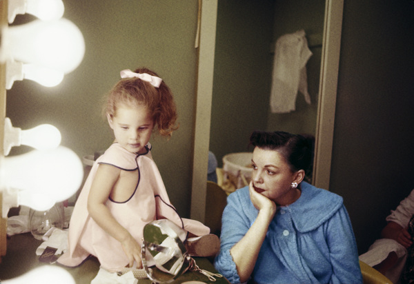 Lorna Luft and Judy Garland during a break from taping a television show1955© 1978 Bob Willoughby - Image 3747_0170