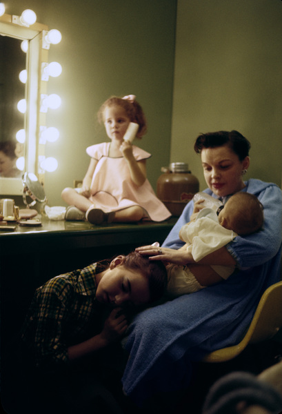 Lorna Luft, Judy Garland, Joey Luft and Liza Minnelli during a break from taping a television show1955© 1978 Bob Willoughby - Image 3747_0171