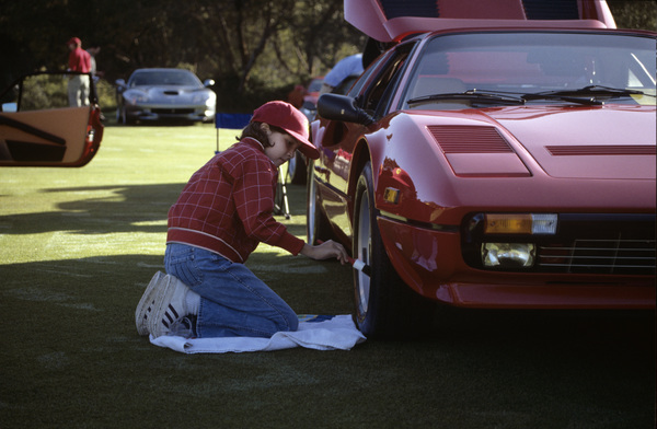 CarsToni Avery/ and our 1984 Ferrari 308 GTS QVat the 2000 Concorso Italiano Monterey Ca© 2000 Ron Avery - Image 3846_0542