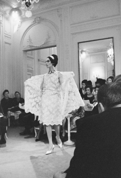 Dior fashion model wearing