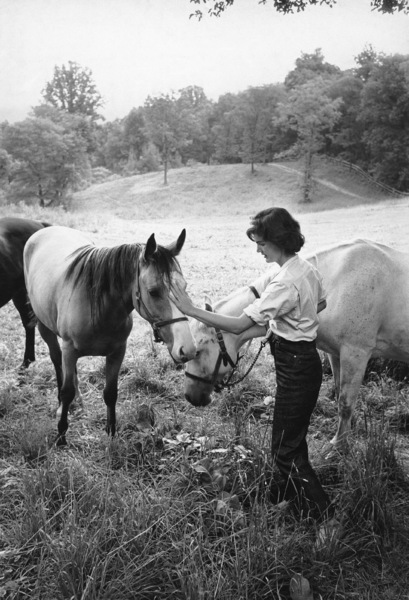 Jacqueline Kennedy at Merrywood, her mother