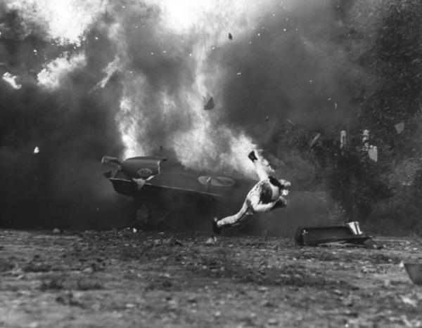 """Le Mans""Car Crash, Ferrari 512 S Photo by Mel Traxel1971 Solar Productions - Image 4170_0025"