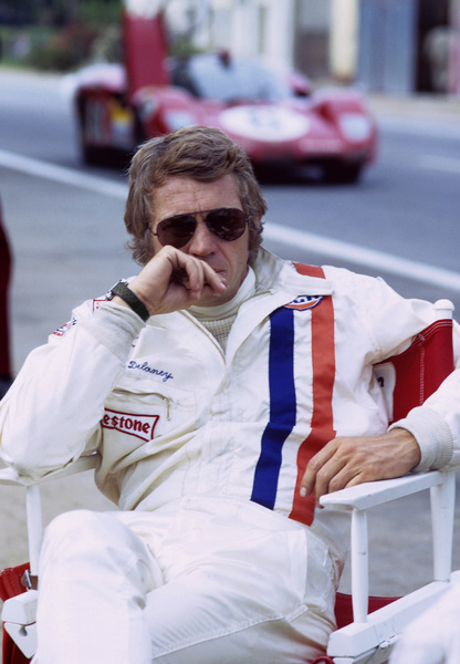 """Le Mans""Steve McQueen (in the backround is a Ferrari 512)1971© 1978 Mel Traxel - Image 4170_0036"