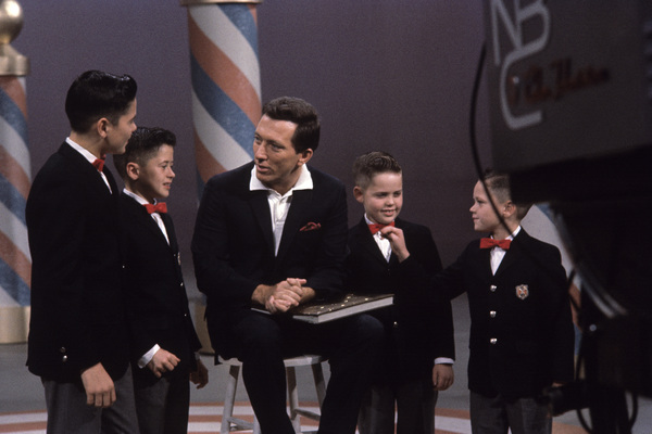 """The Andy Williams Show""Andy Williams, the Osmond brothers1962© 1978 David Sutton - Image 4183_0022"