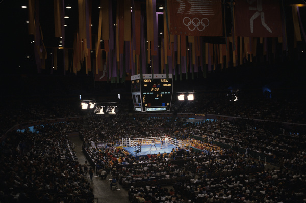 Olympics (boxing finals between Korea and the United States)1984© 1984 Ron Avery - Image 4271_0023