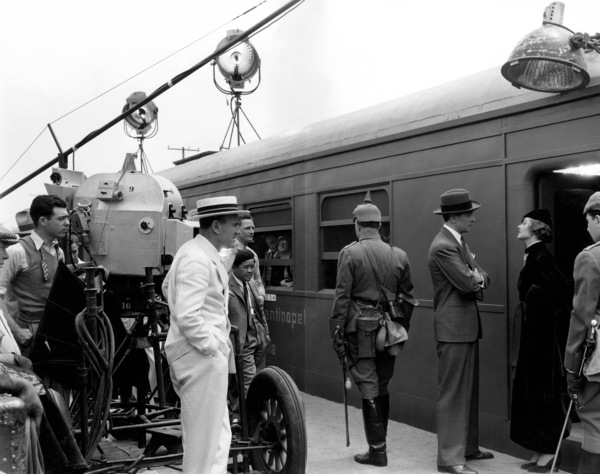 """""""Stamboul Quest""""Myrna Loy, George Brent, director Sam Wood, cinematographer James Wong Howe1934 MGMPhoto by Ted Allan - Image 4280_0004"""