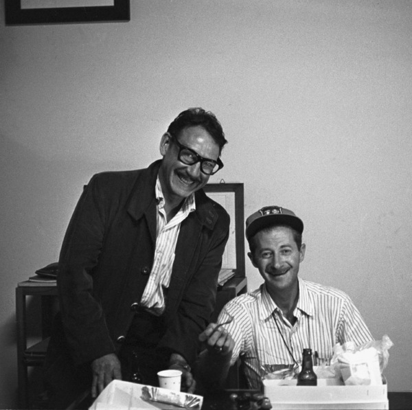 "Photographers David Sutton and Ted Allan during the filming of ""Von Ryan"
