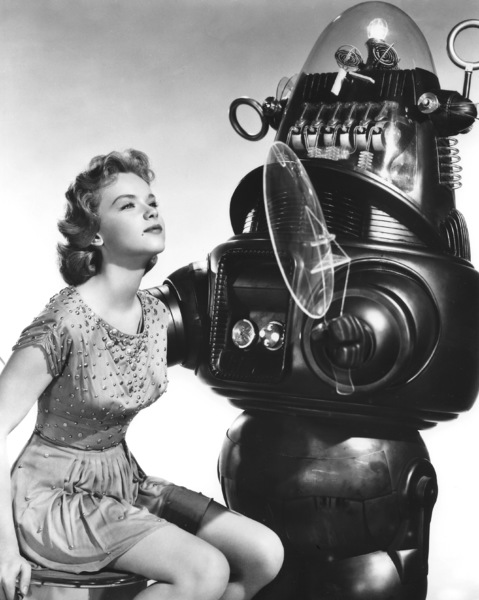 """""""Forbidden Planet""""Anne Francis, Robby the Robot, MGM, 1956, **I.V. - Image 5089_0044"""