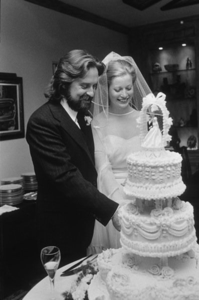 Michael Douglas and bride Diandra on their wedding day3-21-1977 © 1978 Gunther - Image 5160_0069