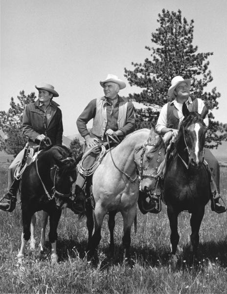 """Bonanza""Michael Landon, Lorne Greene, Dan Blocker circa 1961**I.V. - Image 5424_68"