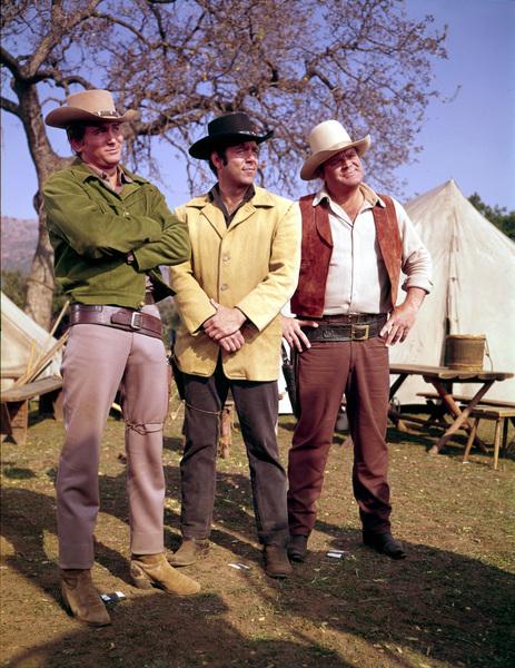 """Bonanza""Michael Landon, Pernell Roberts, Dan Blocker circa 1964**I.V. - Image 5424_69"