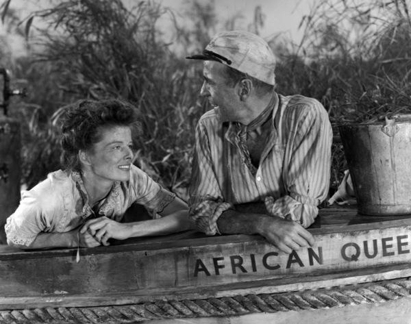 """The African Queen"" Katharine Hepburn, Humphrey Bogart1951 Romulus Films ** I.V. - Image 5636_0122"
