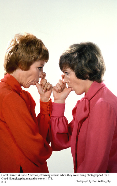 Carol Burnett and Julie Andrews,photographed for a