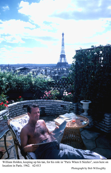 """""""Paris When It Sizzles""""William Holden1962 / Paramount © 1978 Bob Willoughby - Image 5734_0031"""