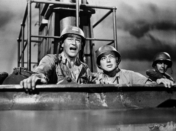 """Operation Pacific,"" Warner Bros. 1950.John Wayne, Bob Nash, and Eric Hoeq. - Image 5760_0034"