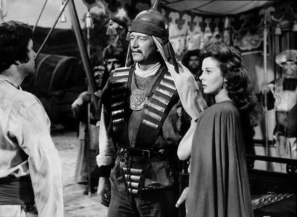 """""""The Conqueror,"""" Howard Hughes/RKO 1955.John Wayne and Susan Hayward.Photo by Alexander Kahle. - Image 5761_0001"""