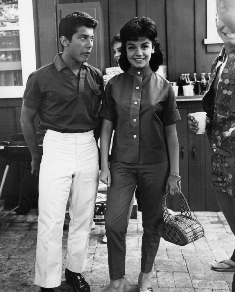 Paul Anka and Annette Funciello at a pool partycirca 1960sPhoto by Joe Shere - Image 5894_0051