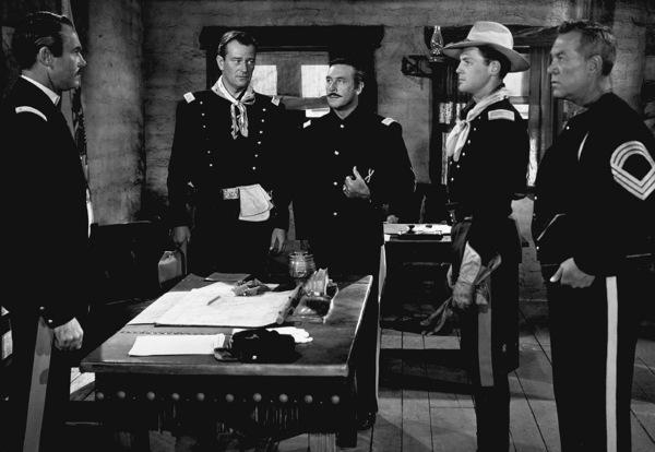 """Fort Apache,"" RKO 1948.Henry Fonda and John Wayne.Photo by Al St. Hilaire. - Image 6005_0001"