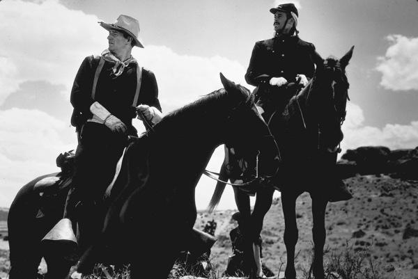 """Fort Apache""John Wayne and Henry Fonda. © 1948 RKOPhoto by Al St. Hilaire. - Image 6005_0037"