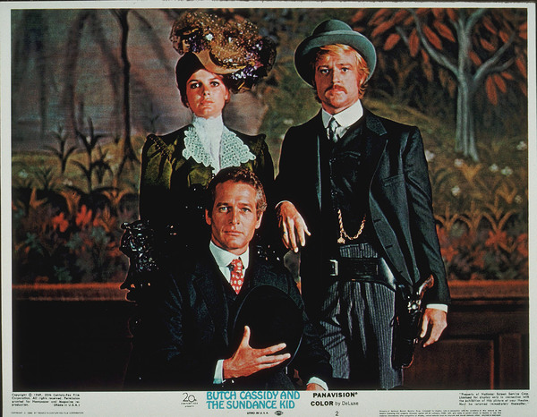 """Butch Cassidy and The Sundance Kid,""Katharine Ross, Robert Redford, &Paul Newman. © 1969 20th Century Fox - Image 6016_0011"
