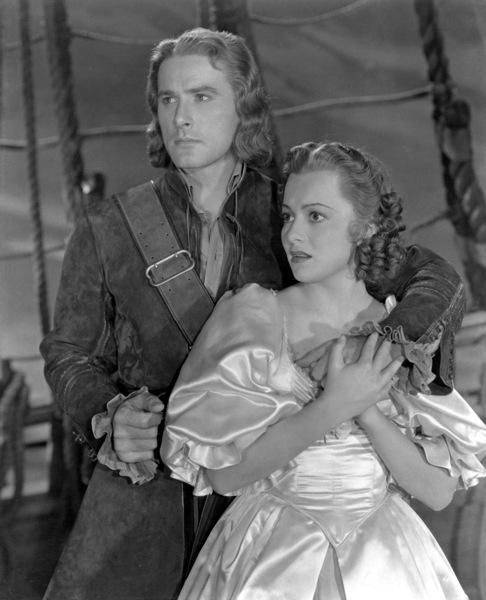 """""""Captain Blood""""Errol Flynn & Olivia De Havilland1935 First National - Image 6107_0011"""