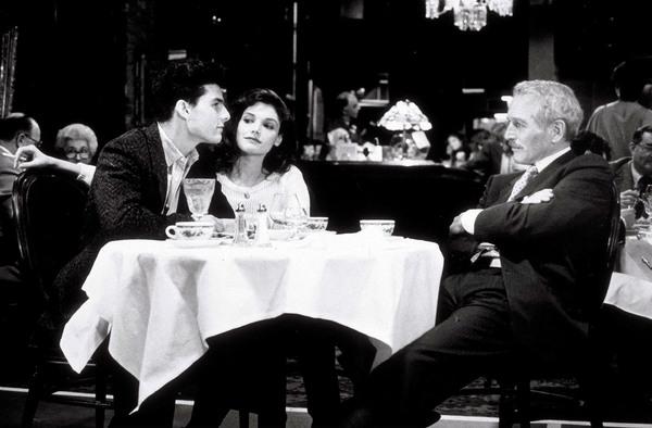 """""""The Color of Money""""Tom Cruise, Mary Elizabethand Mastrantonio. © 1986 Touchstone - Image 6301_0005"""