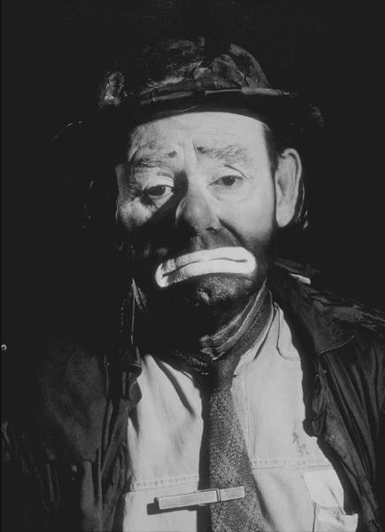 Emmett Kelly, circa 1958. © 1978 Glenn EmbreeMPTV  - Image 7510_0011