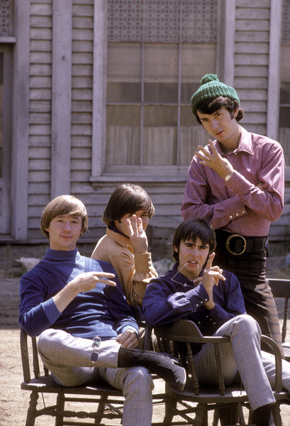 """""""The Monkees"""" Davy Jones, Peter Tork, Mikey Dolenz, Mike Nesmith C. 1966 © 1978 Gene Trindl - Image 7671_0216"""
