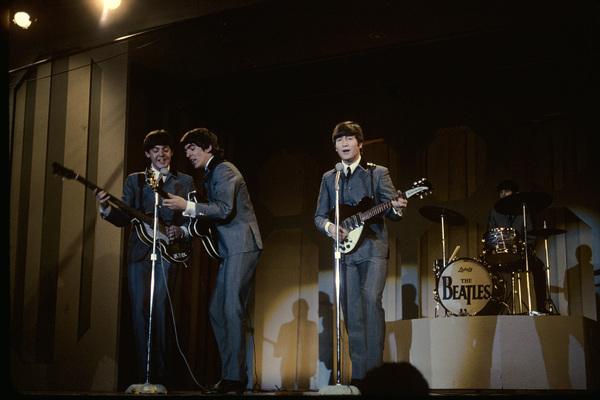 The Beatles (Paul McCartney, George Harrison, Ringo Starr, John Lennon) in Washington D.C. performing live1964 © 1978 Gunther - Image 7685_0040