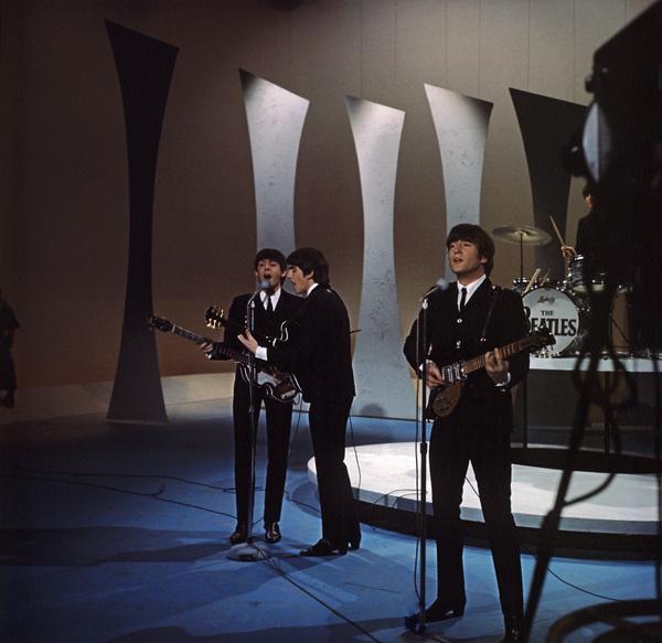 The Beatles (George Harrison, Paul McCartney, Ringo Starr, John Lennon) on the Ed Sullivan Show1964© 1978 Gunther - Image 7685_0056