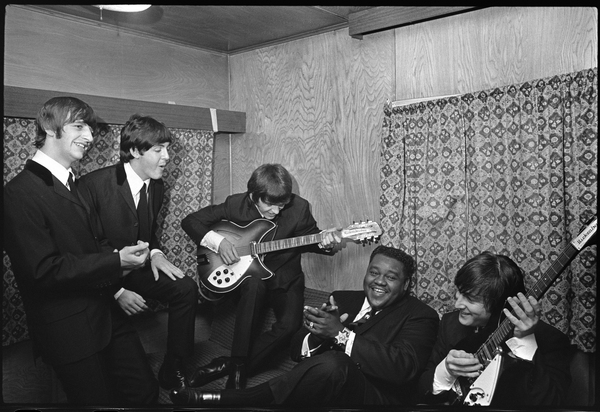 The Beatles in New Orleans with Fats Domino (Ringo Starr, Paul McCartney, George Harrison and John Lennon) 1964 © 1978 Gunther  - Image 7685_0133