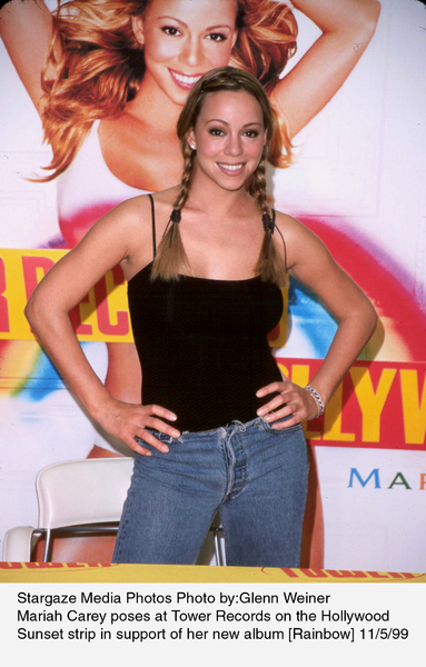 Mariah Carey at Tower Recordson Sunset Strip to promote her newalbum Rainbow.  11/5/99. © 1999 Glenn Weiner - Image 7830_0101