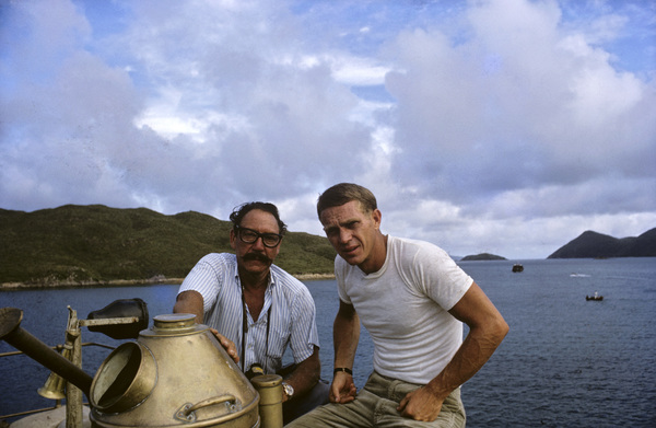 "Photographer Ted Allan with Steve McQueen on location for ""The Sand Pebbles""1966 © 1978 Ted Allan - Image 7845_0017"