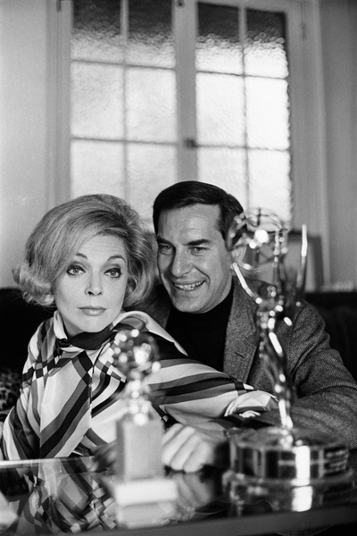 Martin Landau and Barbara Bain at home1967 © 1978 Gunther - Image 7877_0008