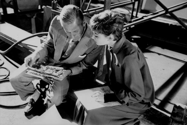 """Sabrina""Audrey Hepburn and William Holden on the set1953© 2000 Mark Shaw   - Image 8124_0022"