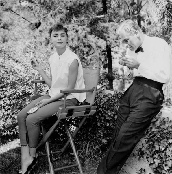 """Sabrina""Audrey Hepburn and William Holden on the set 1953© 2000 Mark Shaw  - Image 8124_0023"