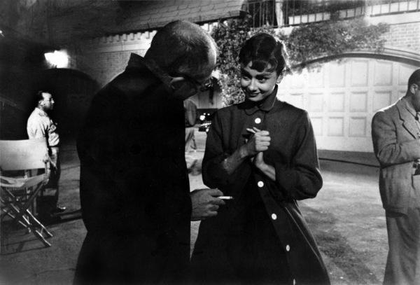 """Sabrina""Audrey Hepburn on the set with director Billy Wilder1953© 2000 Mark Shaw - Image 8124_0024"
