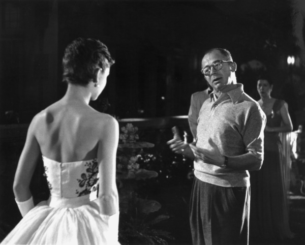 """Audrey Hepburn with director Billy Wilder during the making of """"Sabrina"""" 1953© 2000 Mark Shaw - Image 8124_0030"""