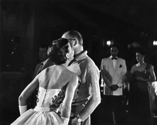 "Audrey Hepburn with director Billy Wilder on the set of ""Sabrina"" 1953© 2000 Mark Shaw - Image 8124_0031"