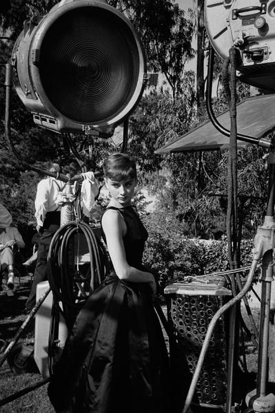 "Audrey Hepburn during the making of ""Sabrina""1953© 2000 Mark Shaw - Image 8124_0093"