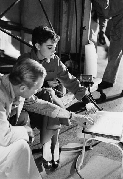 """Audrey Hepburn on the set of """"Sabrina""""1953© 2000 Mark Shaw - Image 8124_0097"""